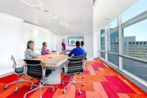 Large conference room with people spaces carousel
