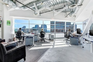Large open space office with windows spaces carousel