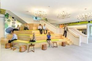 Social platform seating area spaces carousel