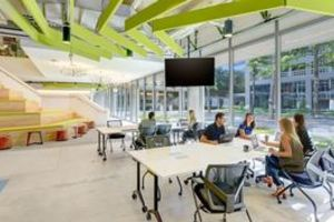 Ground level coworking spaces carousel