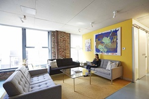 The yard flatiron south interiors coworking private office lounge 3